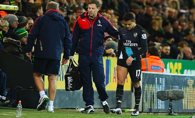 Arsenal fans go nuts after losing Alexis to injury