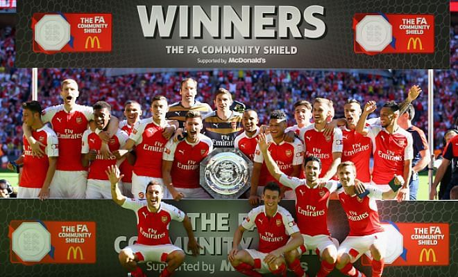 Arsenal beat Chelsea 1-0 to win the Community Shield