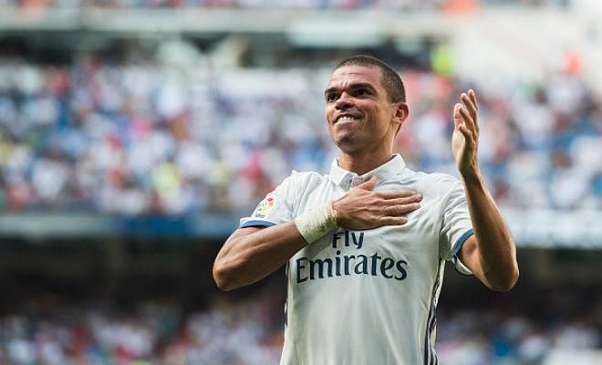 PEPE SET FOR CHINA MOVE?Pepe is edging closer to leaving Real Madrid when his contract expires at the end of the season, reports Marca.  One of the proposals he has received is from Hebei China Fortune, who have offered him a deal worth €10m a season after tax, more than double what he currently earns at the Bernabeu. Pepe has also received offers from other Spanish and European teams.