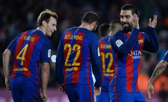 BARCELONA 7-0 HERCULES (AGG 8-1), COPA DEL REY 2016Arda Turan scored a hat-trick as Barcelona claimed an emphatic win over third-tier Hercules to book their place in the last 16 of the Copa del Rey. Other Results: Valencia 2-1 Leganes, Osasuna 2-0 Granada, Deportivo 3-0 Real Betis.