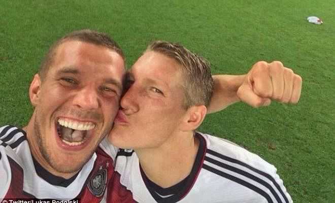 PODOLSKI FROWNS UPON MOURINHO'S TREATMENT OF SCHWEINSTEIGER Lukas Podolski has disagreed with Jose Mourinho's treatment of Schweinsteiger and he said