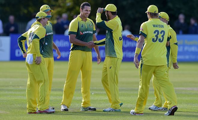 Australia beat Ireland by 23 runs(D/L) in the one-off ODI