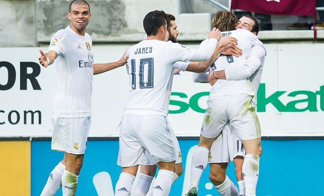 La Liga: Eibar 0-2 Real Madrid