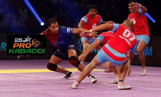 Pro Kabaddi: Dabang Delhi beat Jaipur Pink Panthers 35-27