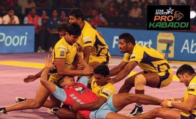 Pro Kabaddi: Telugu Titans vs Jaipur Pink Panthers