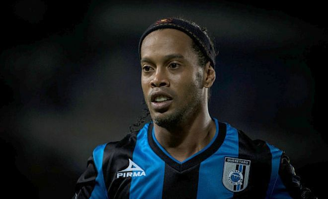 Ronaldinho's angry reaction after substitution