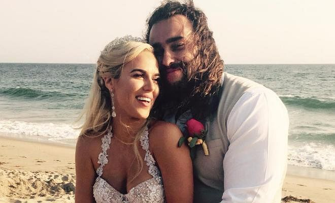 Rusev and Lana marriage pictures shot for WWE Total Divas