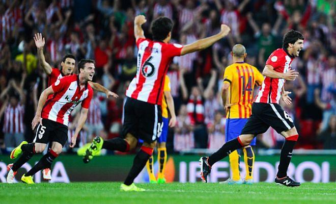 Ath Bilbao Vs Barcelona: Spanish Super Cup 1st Leg: Bilbao Beat Barcelona 4-0