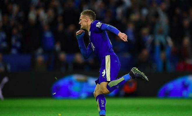 Twitter reacts to Jamie Vardy breaking PL scoring record