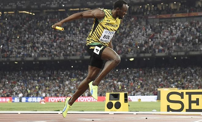 Twitter salutes Bolt after his third Gold win in WCH