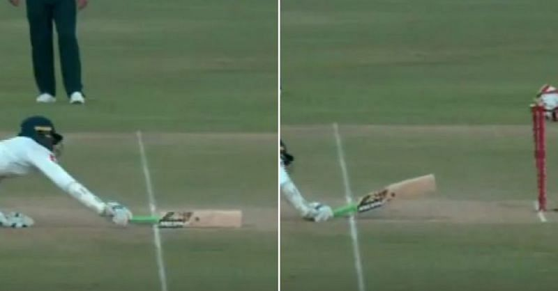 Tharanga was run out in bizarre fashion