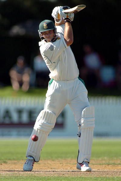 South Africa's Jacques Kallis batting against New