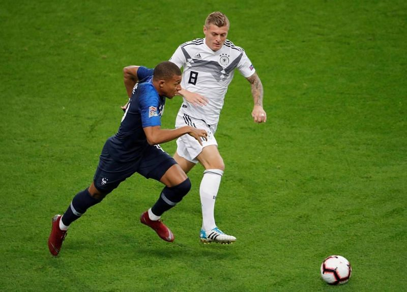 Mbappe was persistent and continually frustrating Germany as Les Bleus went in search of a response