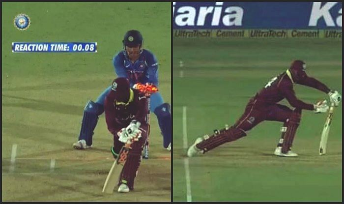 VIDEO: MS Dhoni's world record lightning-quick stumping against the West Indies