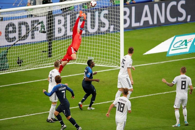 Antoine's well-executed header came at the perfect time for France's comeback
