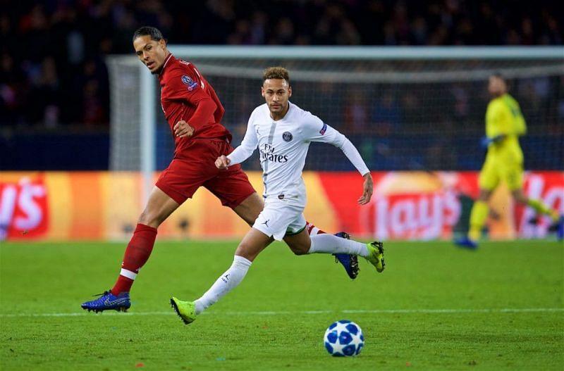 van Dijk struggled to impress during an eventful away clash in Paris