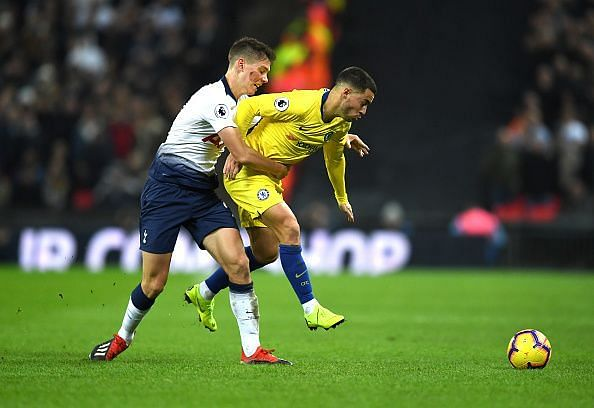 Foyth's tough-tackling style and physicality reduced Hazard to half-chances during a memorable display