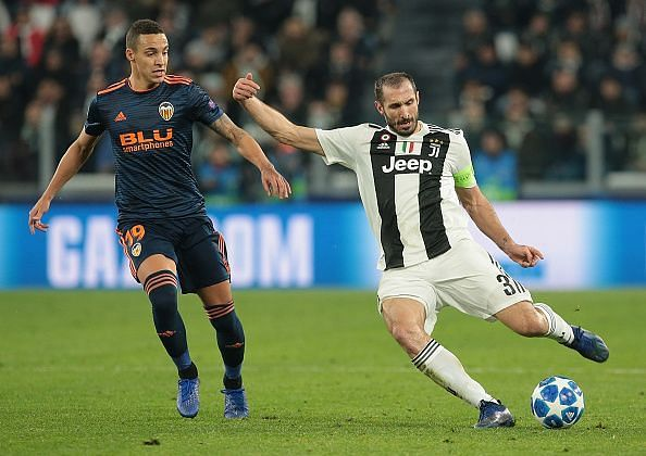 Chiellini was comfortable in possession and worked hard defensively