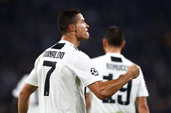 Ronaldo celebrates his well-taken finish to break the deadlock