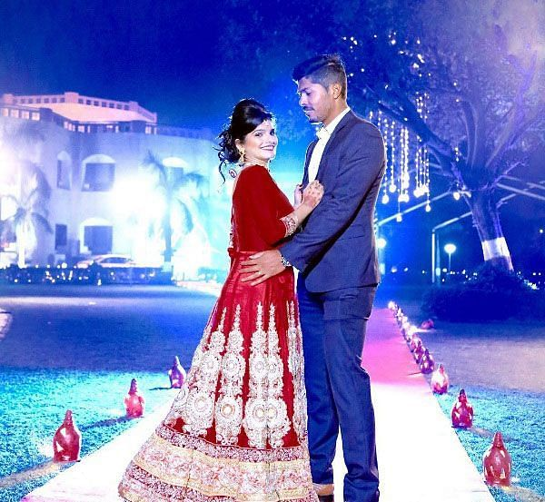 Umesh met his wife Tanya during the IPL season