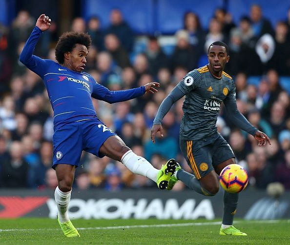 Willian struggled to impress against a Leicester side who kept him isolated