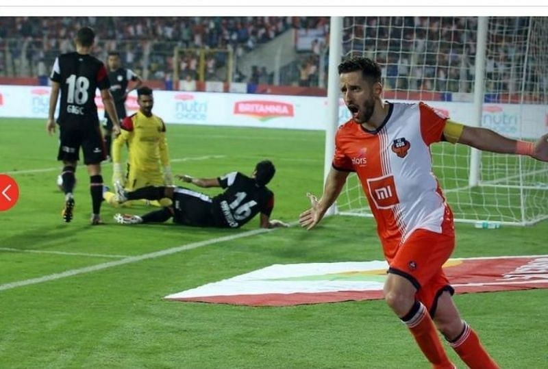 Ferran Corominas regained his Midas touch as he netted in a brace for FC Goa against Northeast United FC