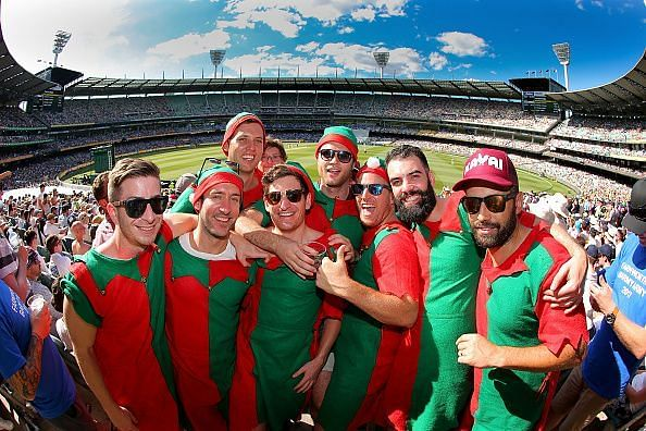 Australian Fans Enjoying the Boxing Day Test Match At MCG