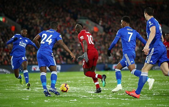 Mane's solo strike two minutes in was a well-taken finish, from Liverpool's best player on a frustrating night
