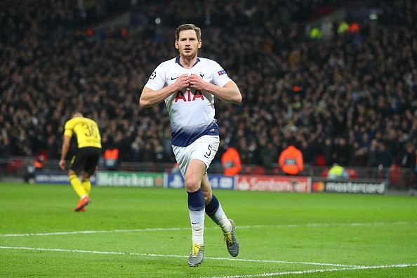 Vertonghen took his goal well and was Tottenham's best performer on a memorable night