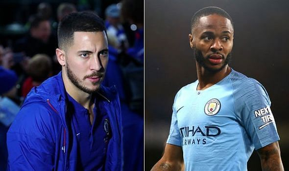 Chelsea talisman Eden Hazard and Manchester City's Raheem Sterling both feature in this list...
