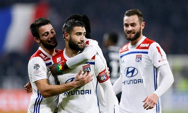 Fekir was forced to watch on from the stands, just days after his winner vs. Guingamp in Ligue 1