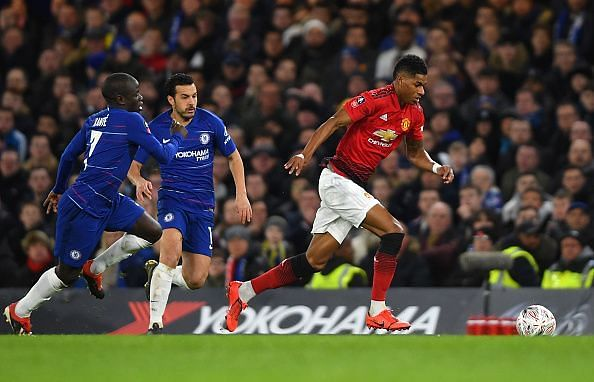 Rashford - not known for his defensive work - embraced that role out of possession for United