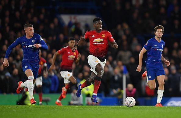 Pogba was excellent as United earned a hard-fought away win at Chelsea's expense