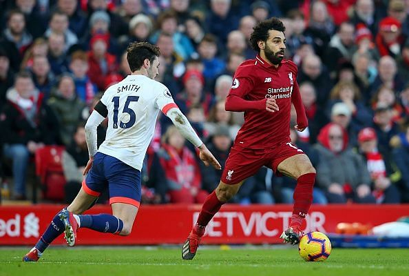 Salah was a constant threat as usual, netting his 20th goal of the campaign across all competitions