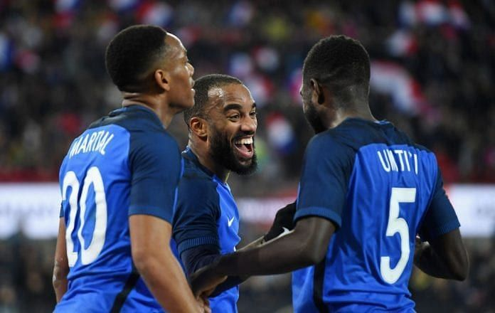 Lacazette, who netted a brace during France's 2-2 draw with Germany last year has again been omitted