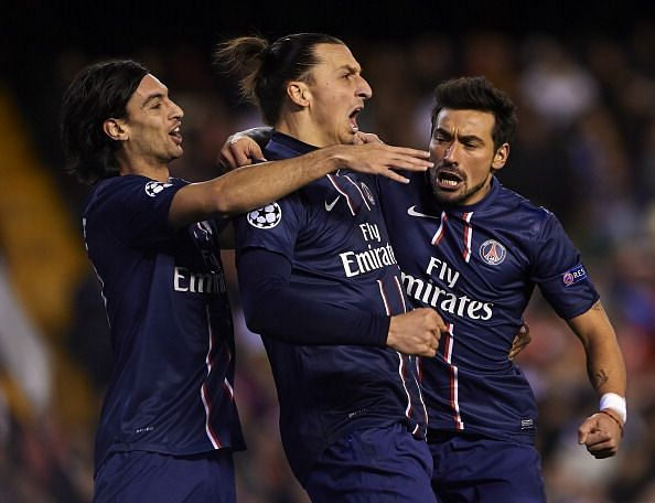Pastore (left) and Lavezzi (right) were good creative players, but not among Europe's elite like Ibrahimovic