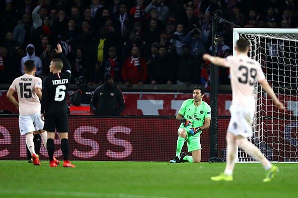 Buffon had an evening to forget, crashing out of the Champions League once again