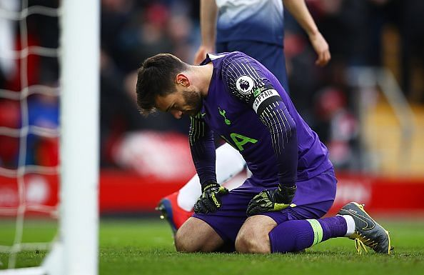 Lloris endured another forgettable afternoon, at fault for Liverpool's late winner