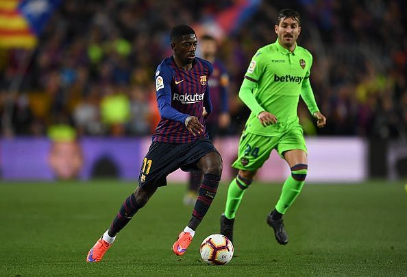 Dembele often flattered to deceive against Levante and his decision-making was largely disappointing