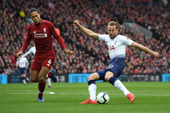 Kane was fairly anonymous in this game and effectively isolated by an ever-present van Dijk at the back