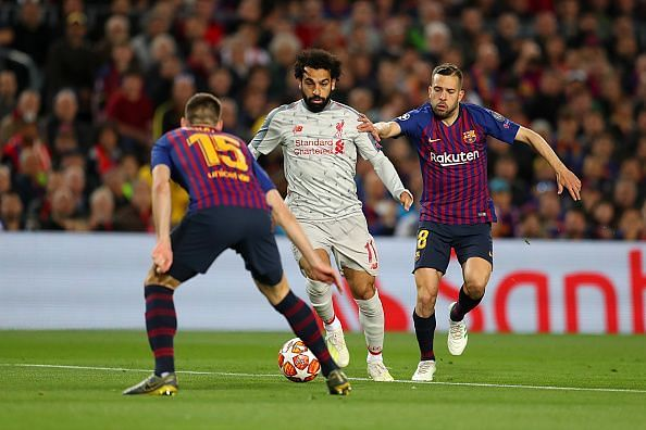 Salah was a livewire in the first-half and caused Barca all sorts of problems, but waned after the break