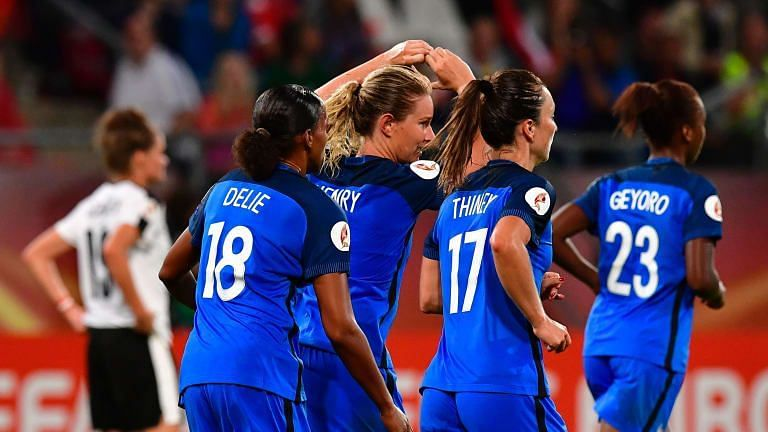 Amandine Henry (centre) will want to lead France to glory this summer, after frustrating tournaments past