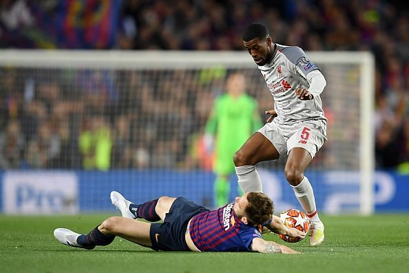 Wijnaldum struggled to impose much creativity or positively influence the game against Barca