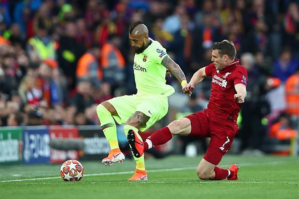 Arturo Vidal was one of few Barcelona players who didn't appear nervy or overwhelmed by the occasion