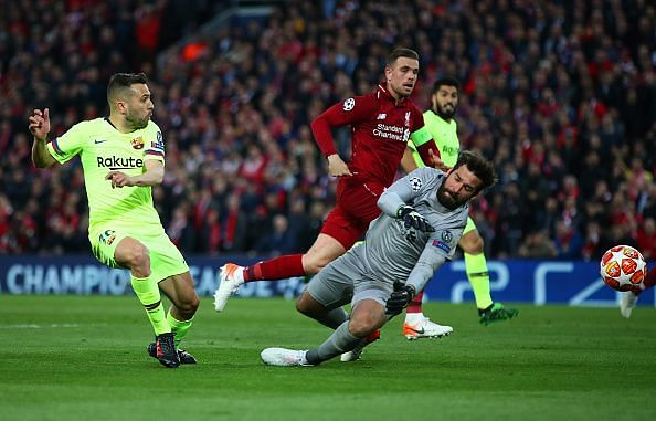 Alba, Messi and Suarez all squandered goalscoring chances as Alisson kept a much-earned clean sheet
