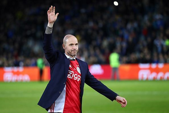 ten Hag, appointed in December 2017, has a 74% win rate with Ajax and earned admirers this term