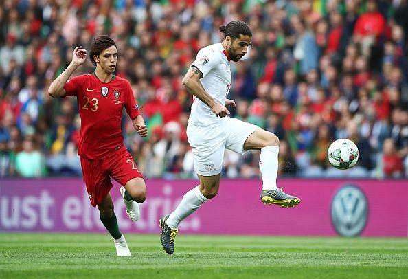 Felix endured a frustrating senior international debut before being replaced after 70 minutes