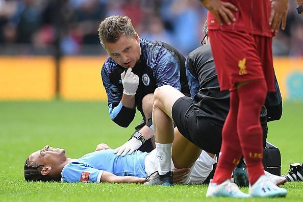 Sane was in some serious discomfort after a needless challenge by Trent Alexander-Arnold early on
