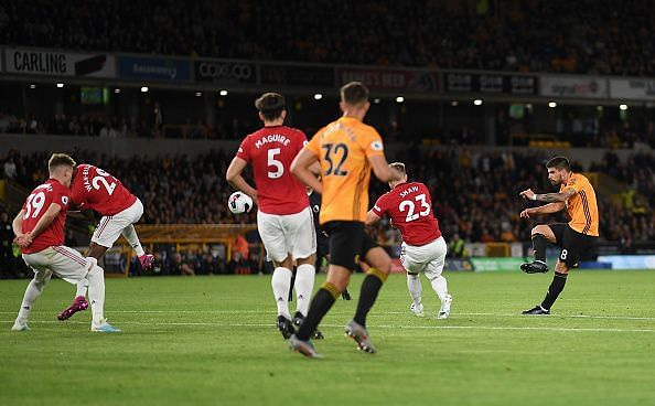 Neves' stunning strike silenced the visitors and helped snatch a hard-fought point against Ole's men too