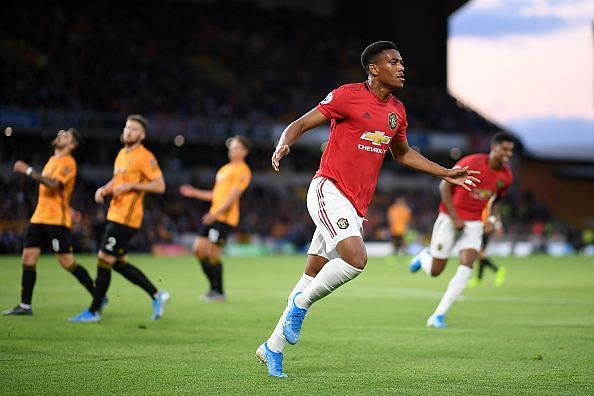 Martial broke the deadlock with an instinctive finish against Wolves, his 50th Manchester United goal